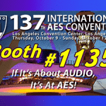 banner image to promote the 2014 International AES Convention in Los Angeles, CA