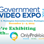 banner image to promote the 2014 Government Video Expo in Washington DC