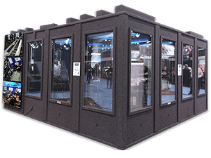 GoPro's custom built WhisperRoom that was used at the 2015 Summer NAMM Show