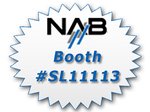 banner ad to promote WhisperRoom's booth location at the 2015 NAB Show