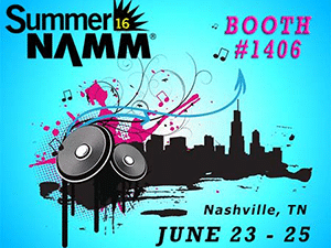 banner ad to promote the 2016 Summer NAMM show in Nashville