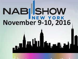 bannder ad image to promote the 2016 NAB Show in New York