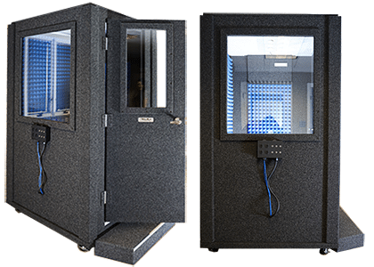 two 4' x 4' audiometric testing booths by whisperroom