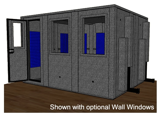 CAD drawing of the WhisperRoom MDL 102126 E