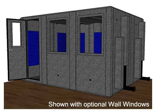 CAD drawing of the WhisperRoom MDL 102126 S