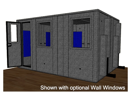 CAD drawing of the WhisperRoom MDL 102144 E