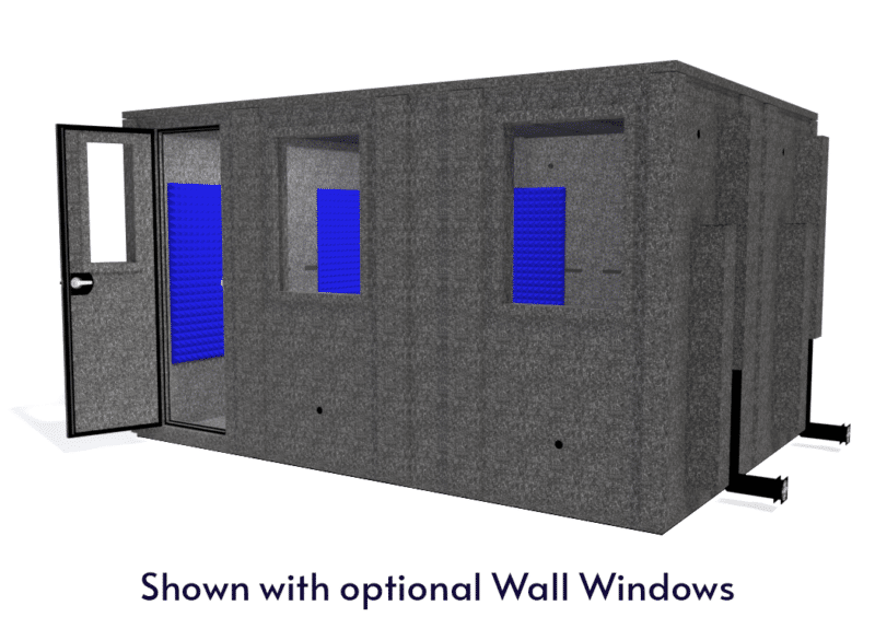 WhisperRoom MDL 102144 E shown with the door open from the front