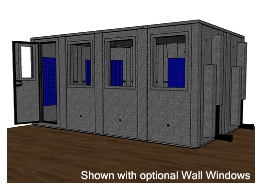 CAD drawing of a WhisperRoom 102168 E