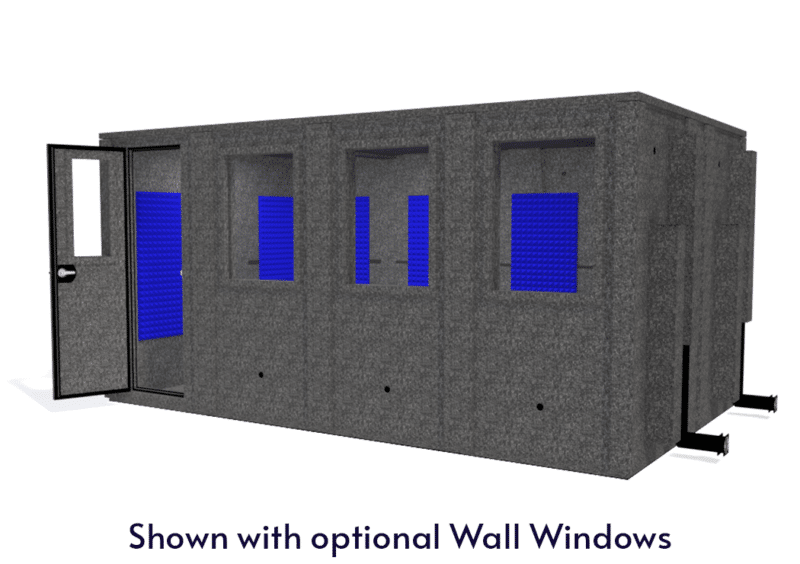 WhisperRoom MDL 102168 E shown with the door open from the front