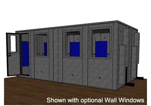 CAD drawing of the WhisperRoom 102186 E
