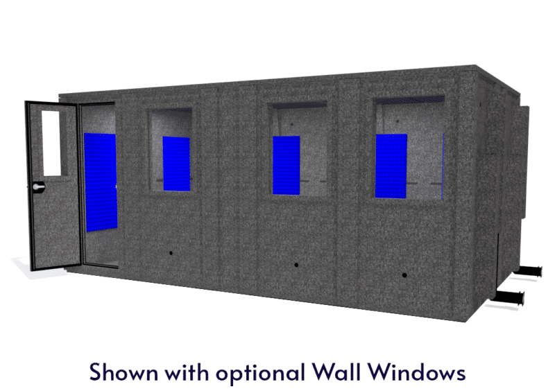 WhisperRoom MDL 102186 E shown with the door open from the front