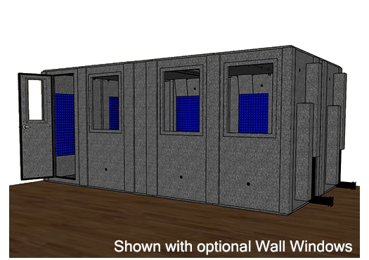CAD drawing of the WhisperRoom MDL 102186 S