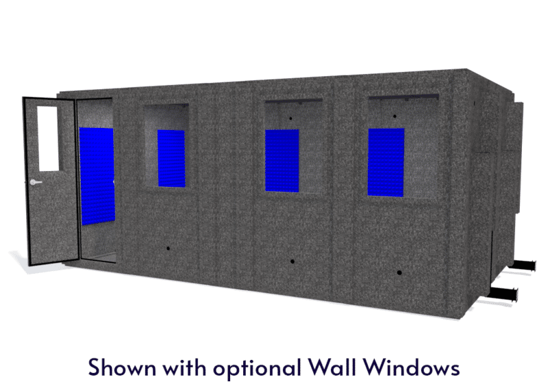 WhisperRoom MDL 102186 S shown with the door open from the front