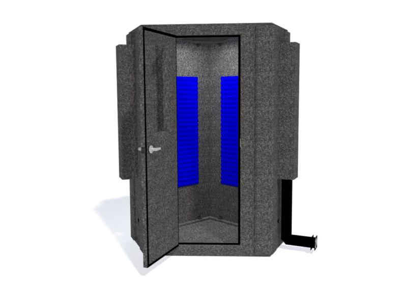 WhisperRoom MDL 127 LP S shown with the door open from the front
