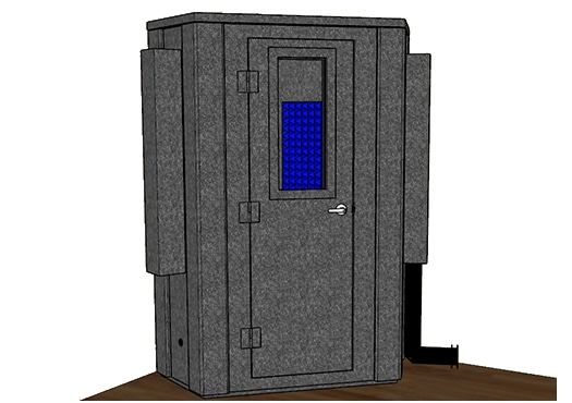 CAD drawing of the WhisperRoom MDL 127 LP S