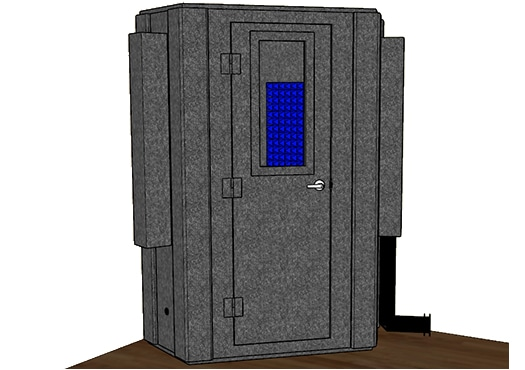 CAD drawing of a WhisperRoom MDL 127LP S