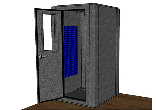 CAD drawing of the WhisperRoom MDL 4242 S