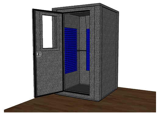 CAD drawing of the WhisperRoom MDL 4848 E