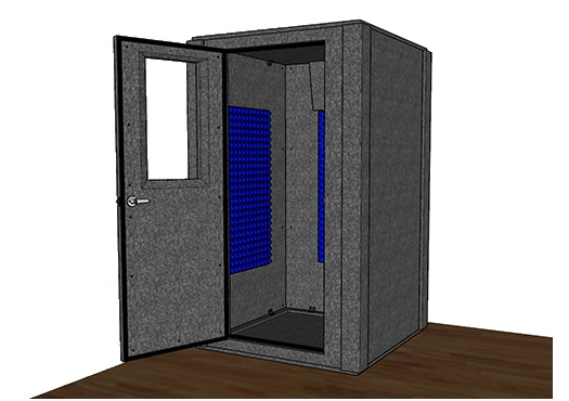 CAD drawing of the WhisperRoom MDL 4848 S