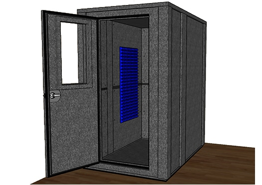 CAD drawing of the WhisperRoom MDL 4872 E