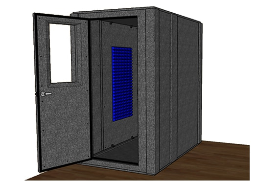 CAD drawing of the WhisperRoom MDL 4872 S