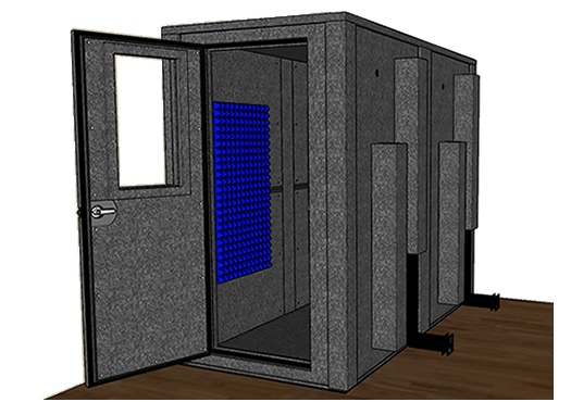 CAD drawing of the WhisperRoom MDL 4896 E
