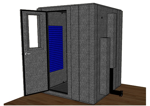 CAD drawing of the WhisperRoom MDL 6060 S
