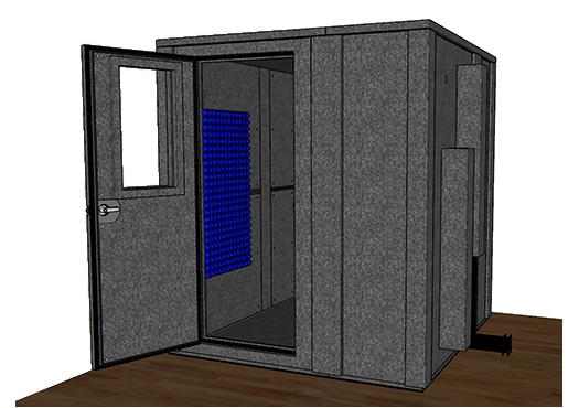 CAD drawing of the WhisperRoom MDL 7272 E