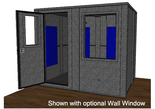 CAD drawing of the WhisperRoom MDL 7296 E