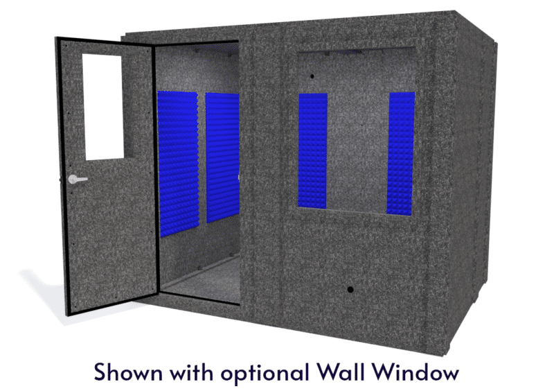WhisperRoom MDL 7296 S shown with the door open from the front