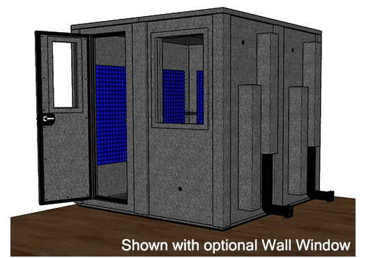 CAD drawing of the WhisperRoom MDL 8484 E