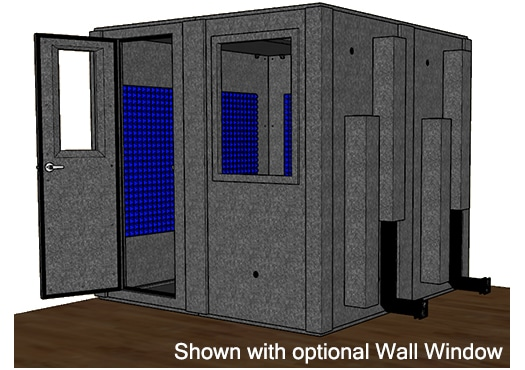 CAD drawing of the WhisperRoom MDL 8484 S