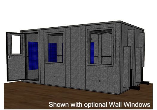 CAD drawing of the WhisperRoom MDL 96168 E