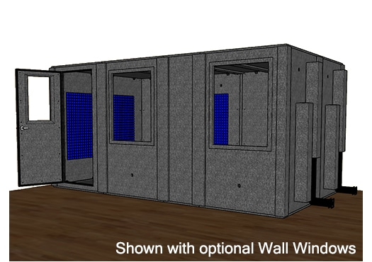 CAD drawing of the WhisperRoom MDL 96168 S