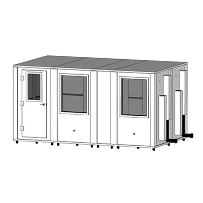 MDL 96168 E - 8' x 14' Single-Wall Isolation Booth | WhisperRoom, Inc ™