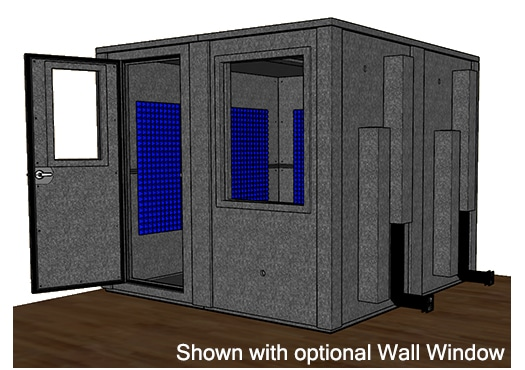 CAD drawing of the WhisperRoom MDL 9696 E