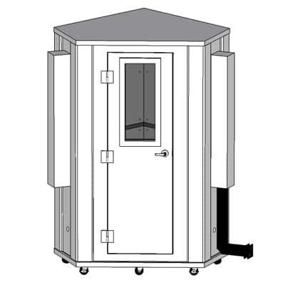 CAD image corner designed WhisperRoom sound isolation booth