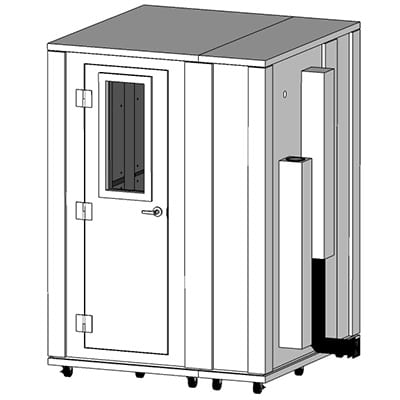CAD image of 5' x 5' whisperroom soundproof room