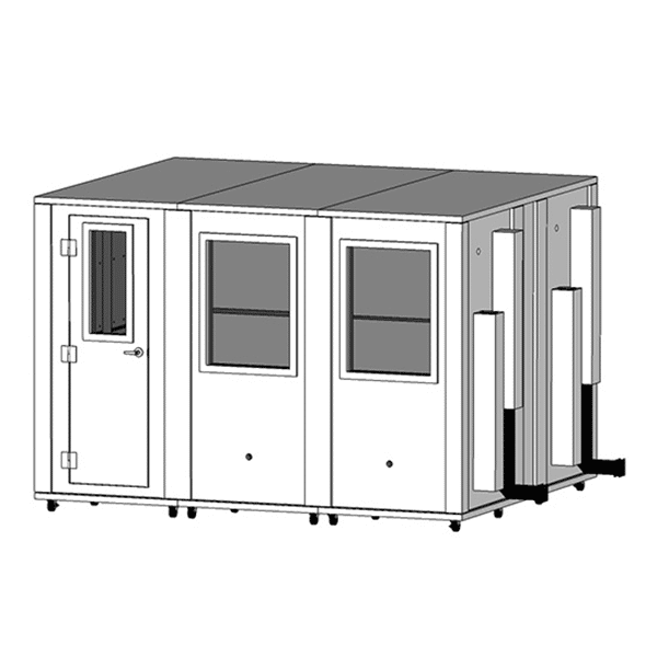 image of a 8.5' x 10.5' whisperroom sound isolation enclosure