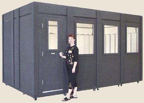 image of a whisperroom sound isolation enclosure