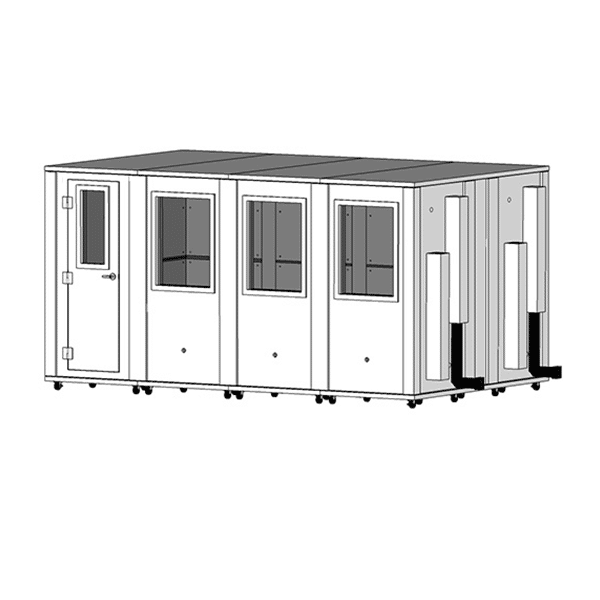 image of 8.5' x 14' whisperroom isolation booth
