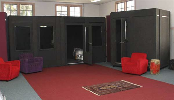 image of a large whisperroom sound isolation enclosure