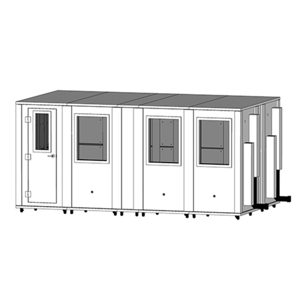 image of a 8.5' x 15.5' whisperroom isolation booth