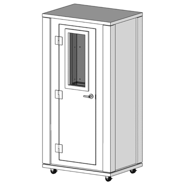 image of 3.5' x 2.5' whisperroom booth