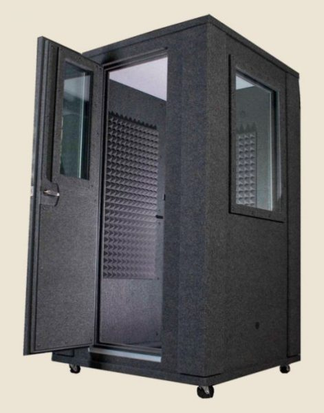 image of a whisperroom booth with an open door