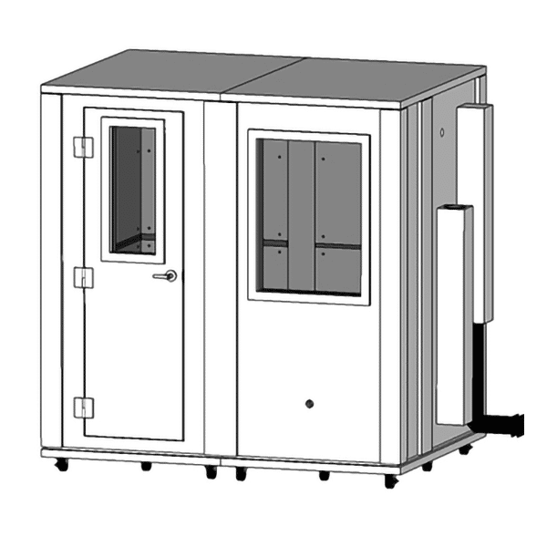 image of a 5' x 7' whisperroom isolaiton booth