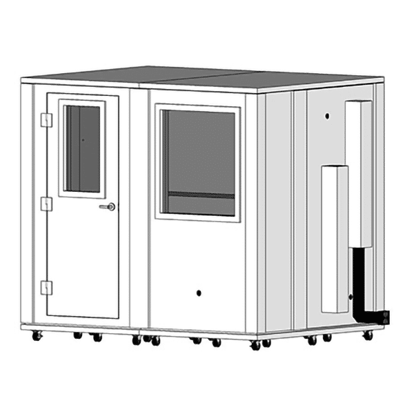 image of a 6' x 8' whisperroom sound isolation booth