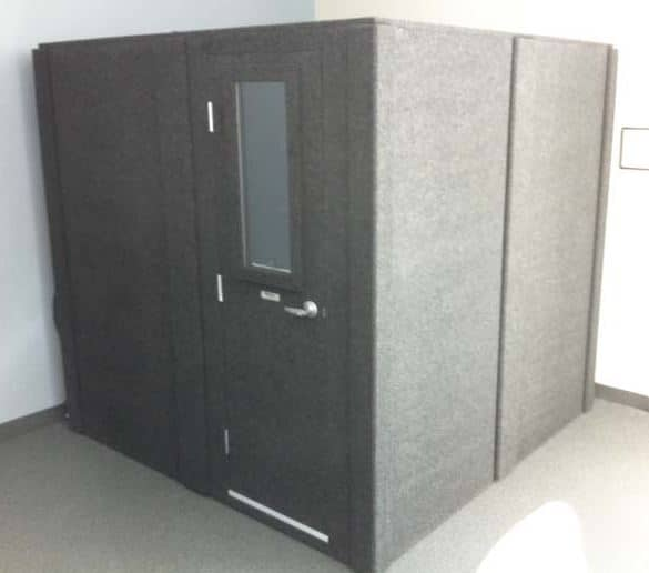 image of a whisperroom sound isolation enclosure