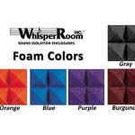 image of acoustic studio foam in five different colors