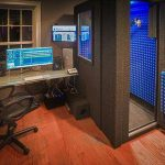 image of a whisperroom recording booth inside a home studio